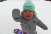 14 hónapos snowboardos - őrülten cuki :)
